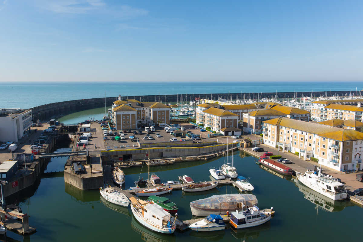 Brighton harbour and marina